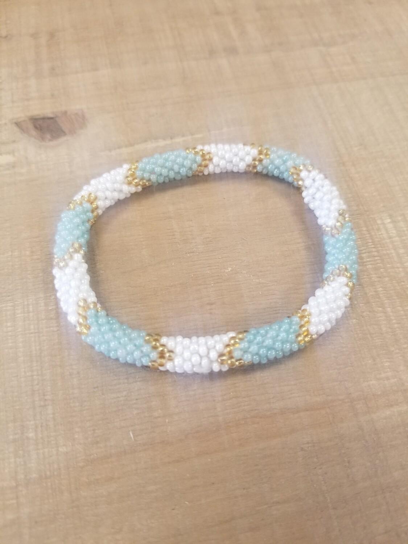 Turquoise & White Nepal Bracelet