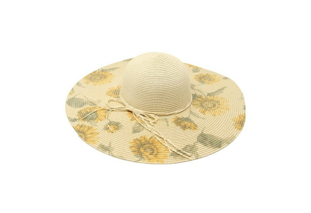 Light Beige Sunflower Hat