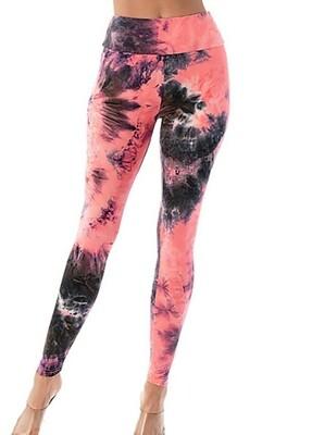 Pink Tie Dye Leggings