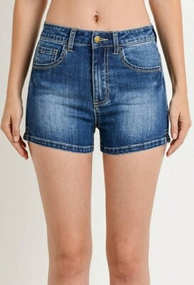 High Waist Push Up Shorts With Pads