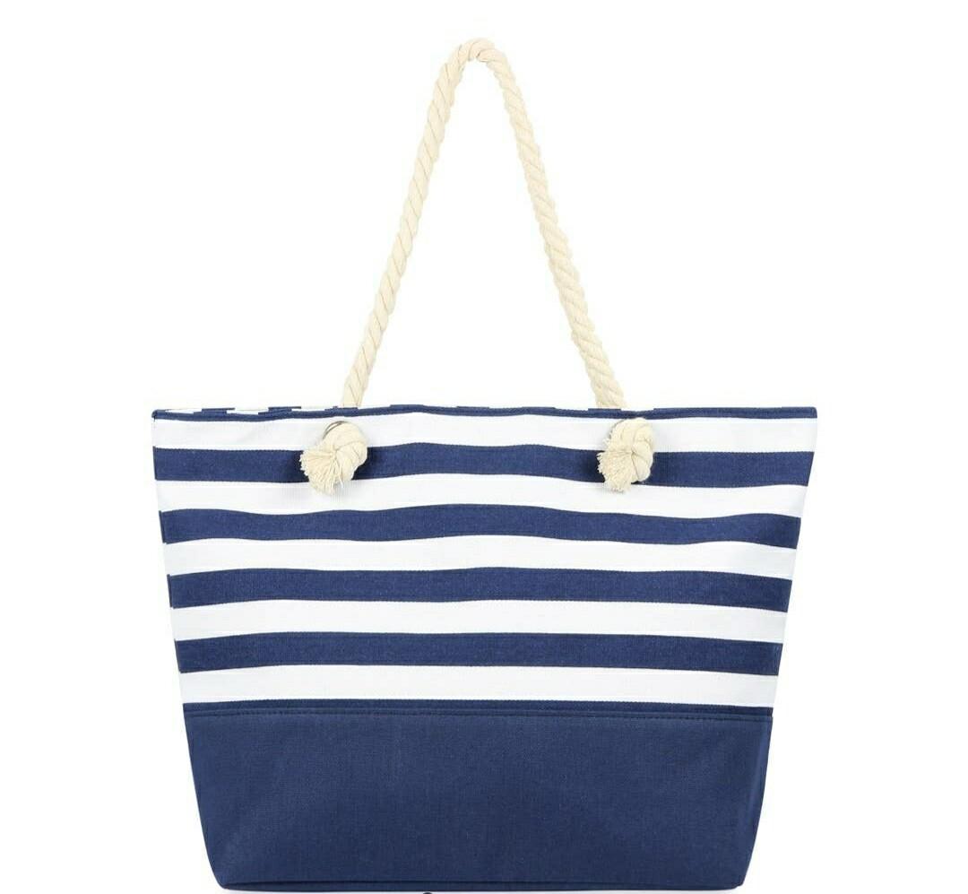Blue Stripped Tote Bag