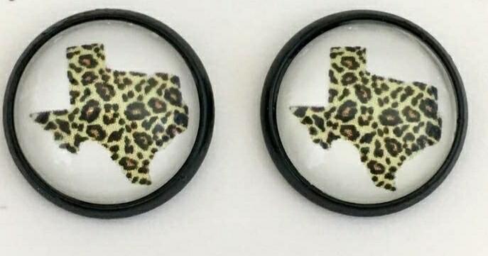 Black & Leopard Texas Earrings