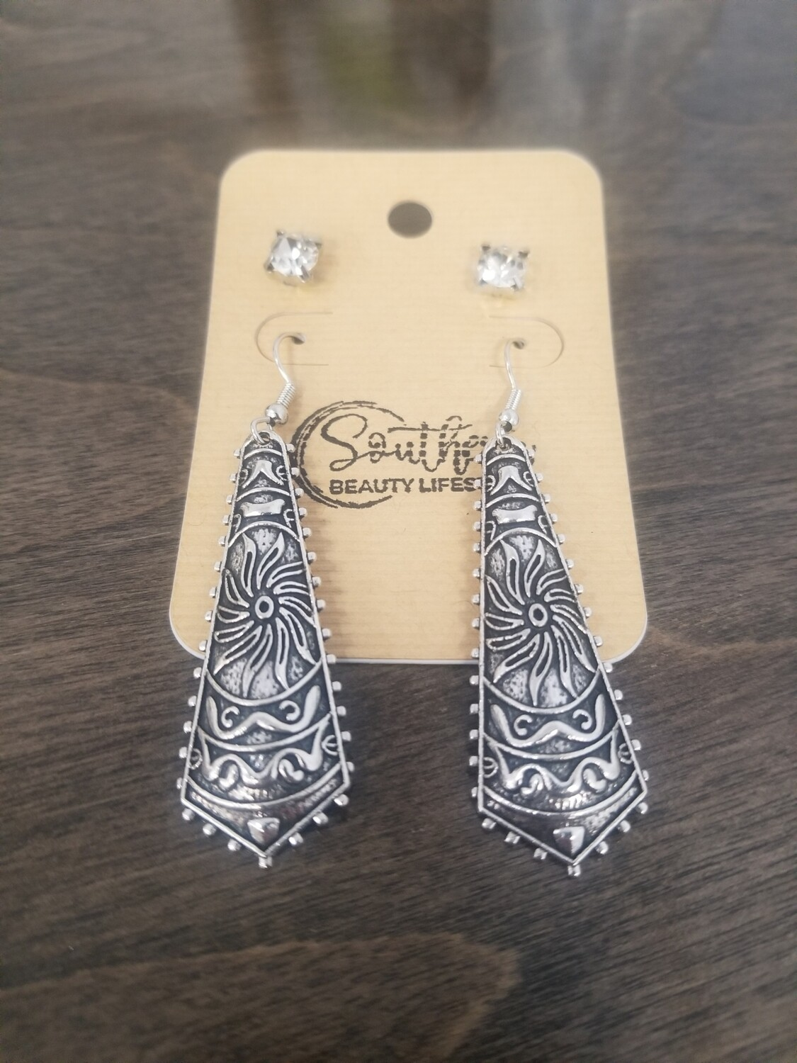 Aztec Earrings With Studs