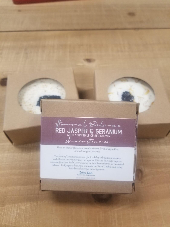 Red Jasper & Geranium Shower Steamer