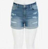 Plus Size Vintage Ripped Shorts