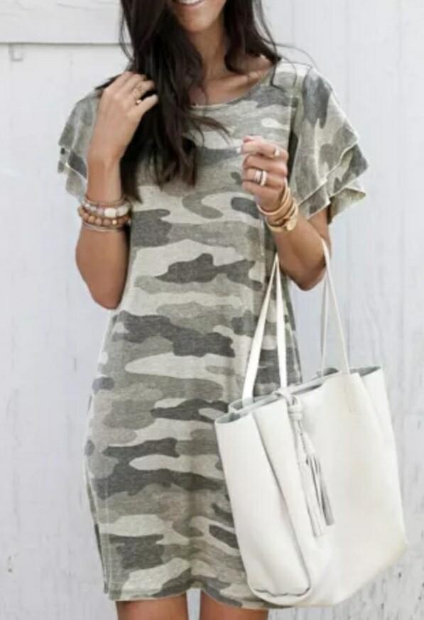 Khaki & Camo Dress