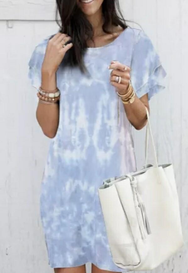 Sky Blue Camo Dress