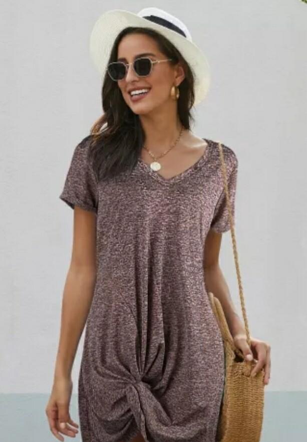 Purple Side Knot Dress