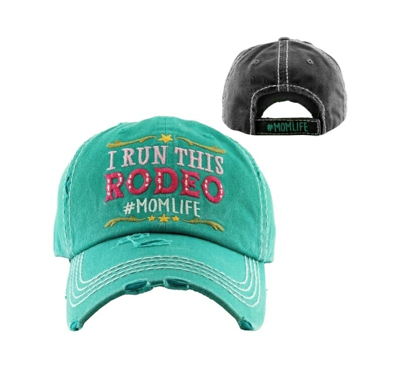 Distressed I Run This Rodeo Cap