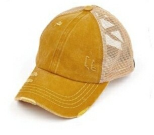Distressed Yellow Cap