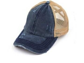 Distressed Blue Cap