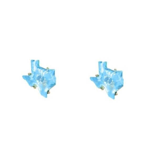 Light Blue Texas Earrings