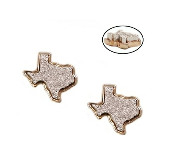 Pink & Gold Texas Earrings