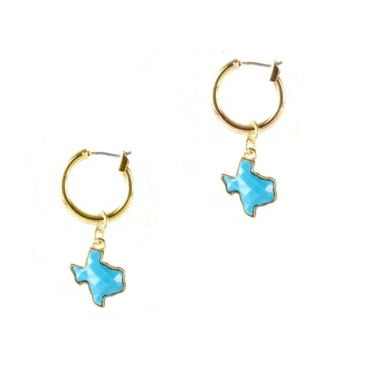 Baby Blue Snap Loop Earrings
