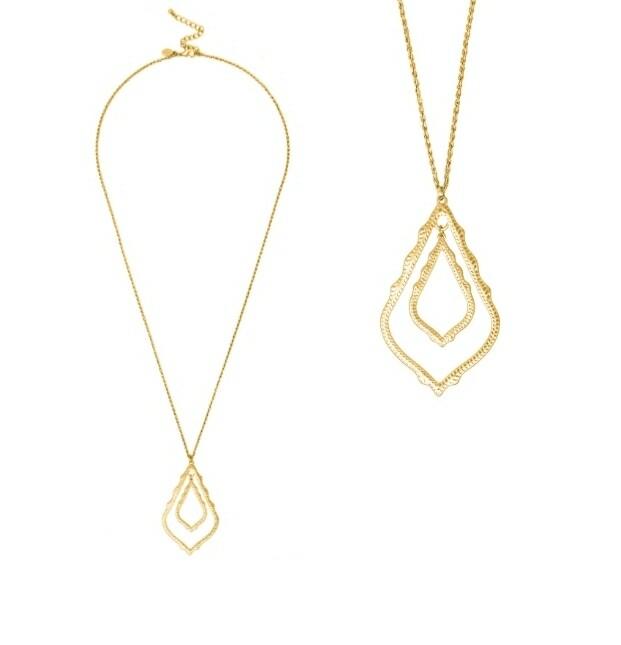 Big Tear Drop Gold Necklace
