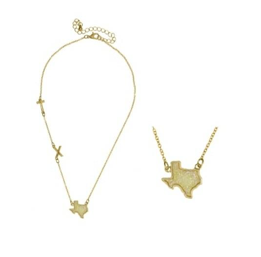 Yellow TX Texas Necklace