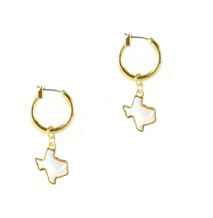Pearl Snap Loop Earrings
