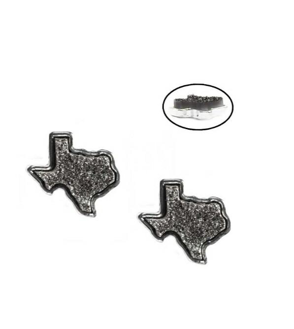 Hematite Silver Texas Earrings