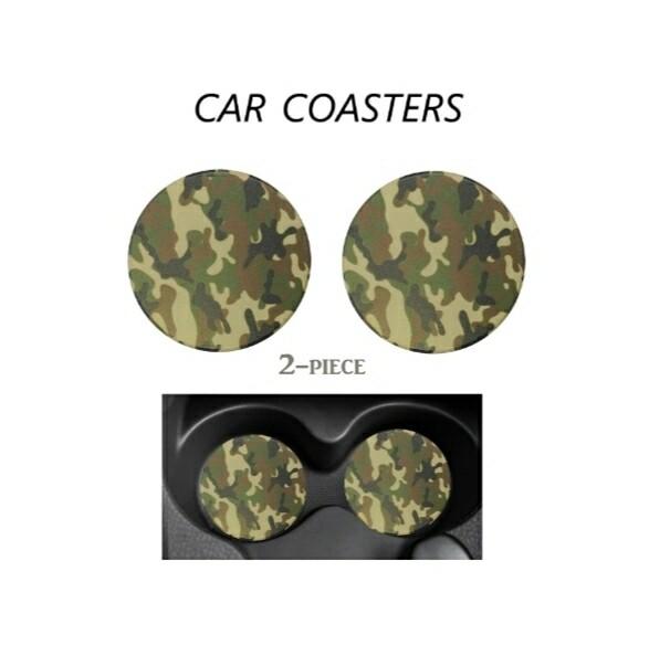 Camo Car Coasters