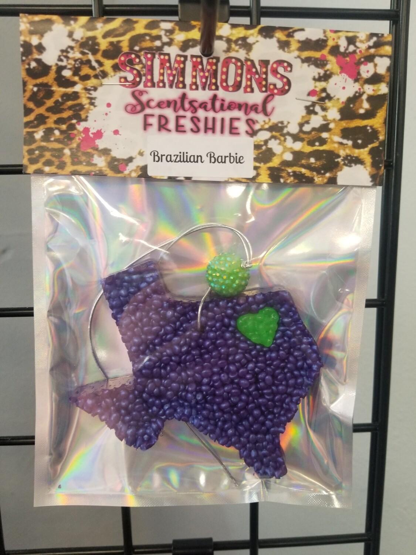 Purple Texas Neon Green Heart (Brazilian Barbie)