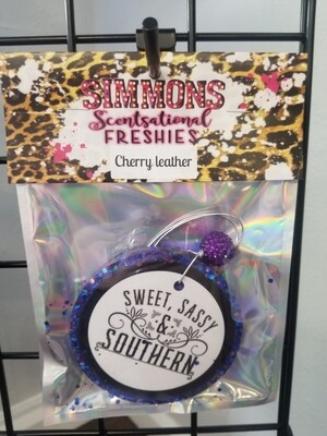 Sparkly Purple Big Round Sweet Sassy Southern (Cherry Leather)
