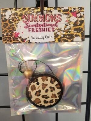 Black Small Round Cheetah (Birthday Cake )