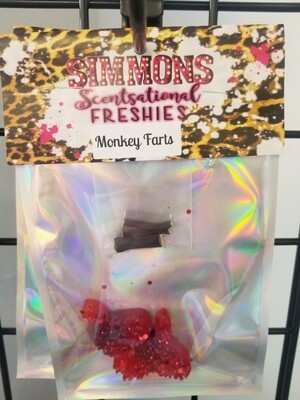 Sparkly Red Cow Vent Clip (Monkey Farts)