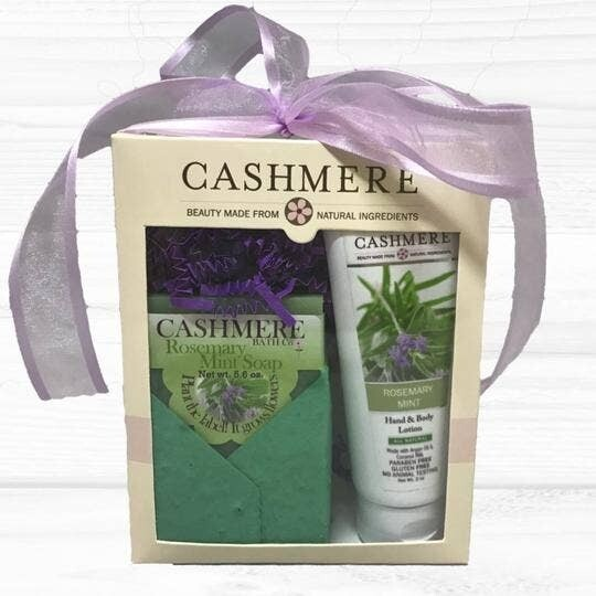 Cashmere Rose Mary Mint Soap & Lotion Gift Set