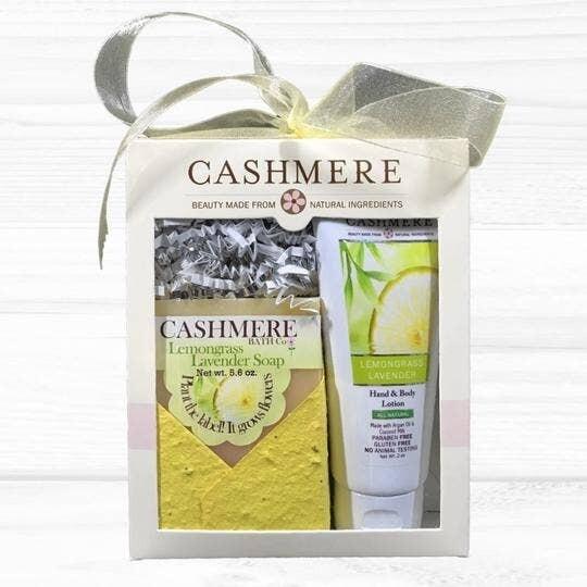 Cashmere Lemongrass Lavender Soap & Lotion Gift Set