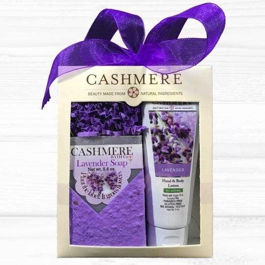 Cashmere Lavender Soap & Lotion Gift Set