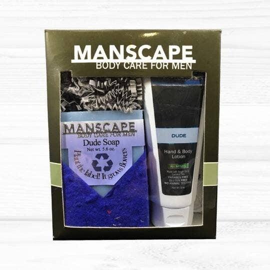 Manscape Dude Soap & Lotion Gift Set
