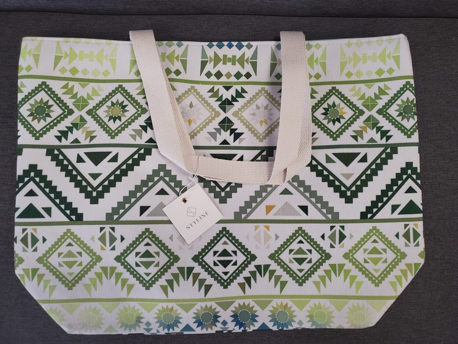 Aztex Lime Green Blue Tote