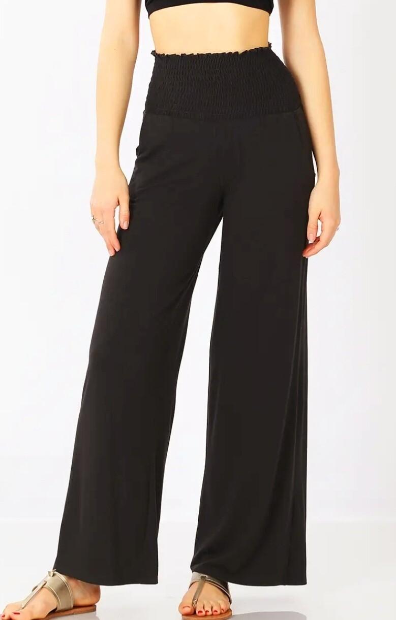 Black Stretch Waistband Lounge Pants