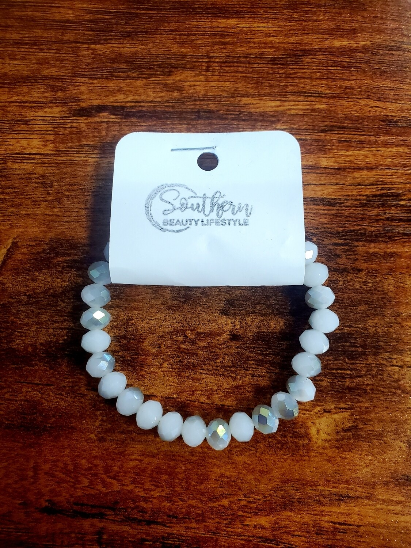White & Grey Bead Bracelet