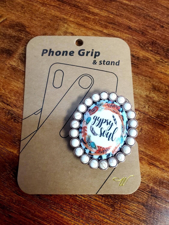 White Gypsy Soul Pop Socket