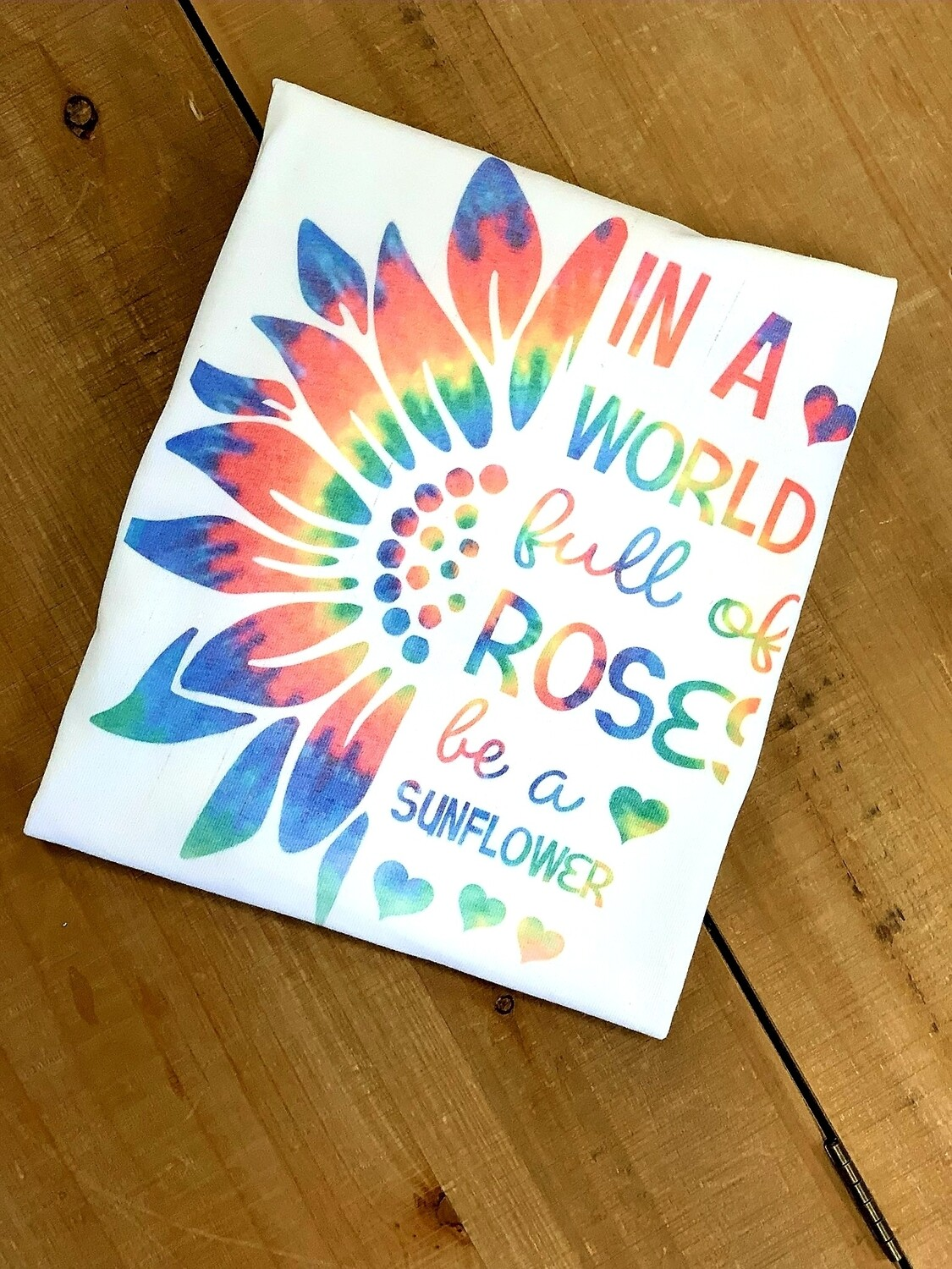White In A World Of Roses Shirt Size M