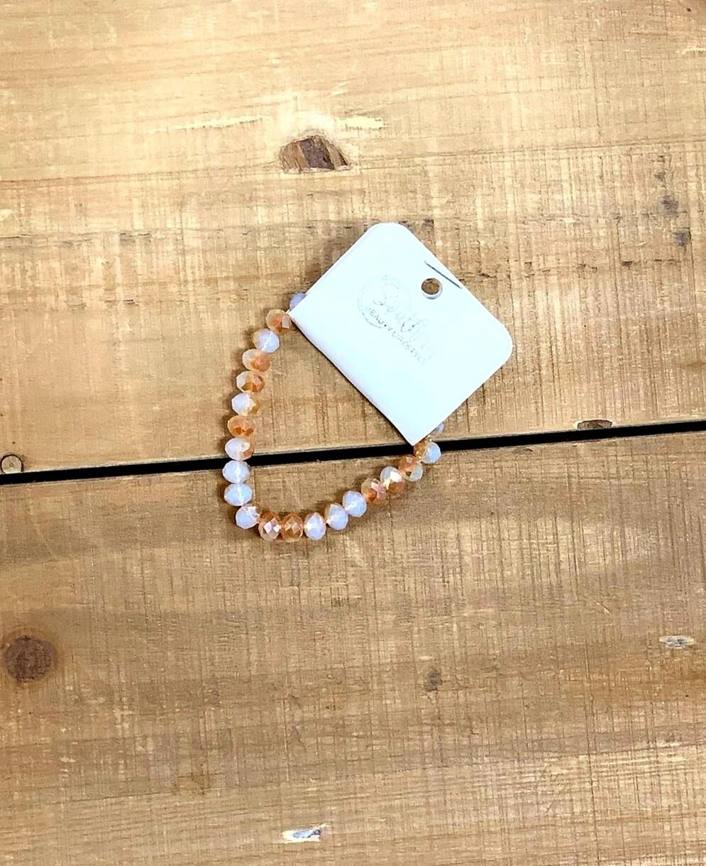 Topaz & White Bead Bracelet