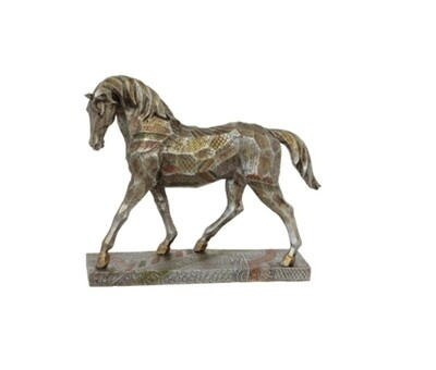 Silver/Gold Geo Horse
