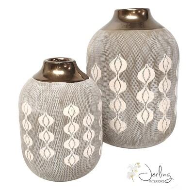 Grey Dot Vases