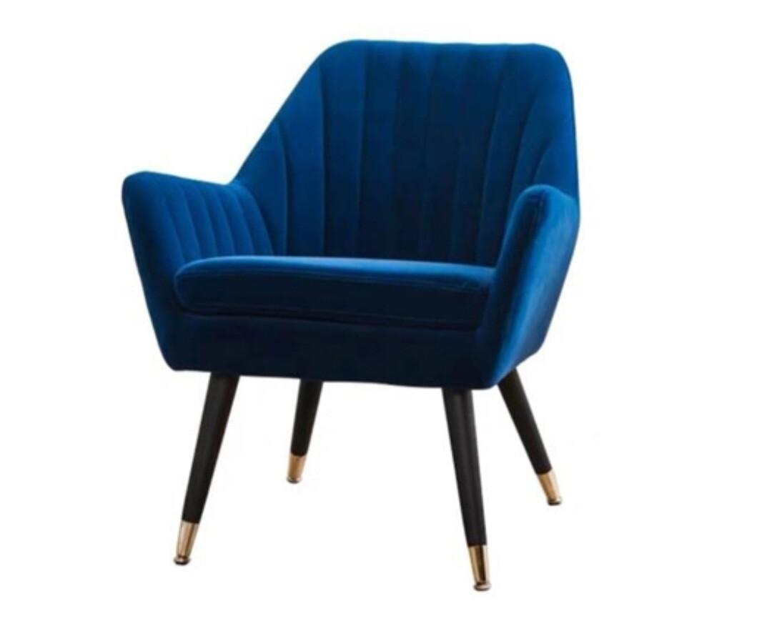 Cloe Velvet Blue Chair