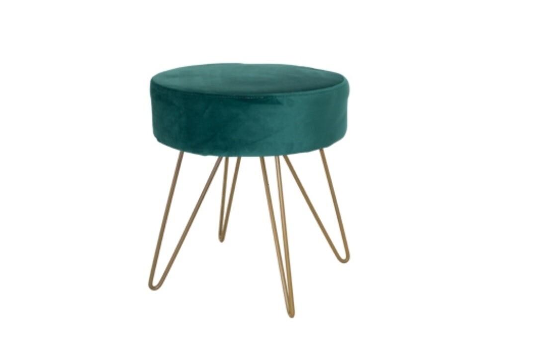 Velvet footstool
