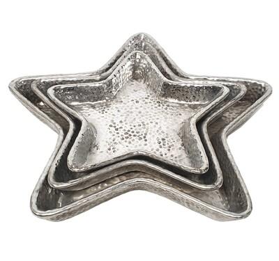 Silver Star Plate Set