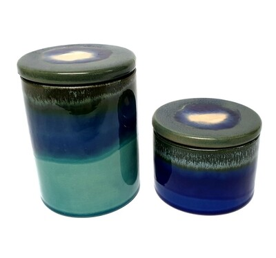 Turquoise Jar with Lid