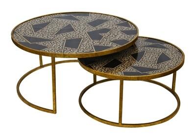 Geometric Glass Nesting Tables