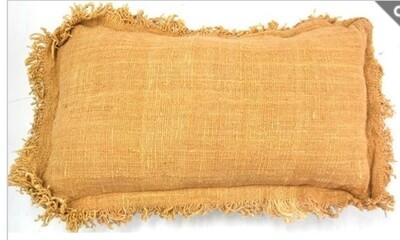 Pale Terracotta Long with Fringe Cushion