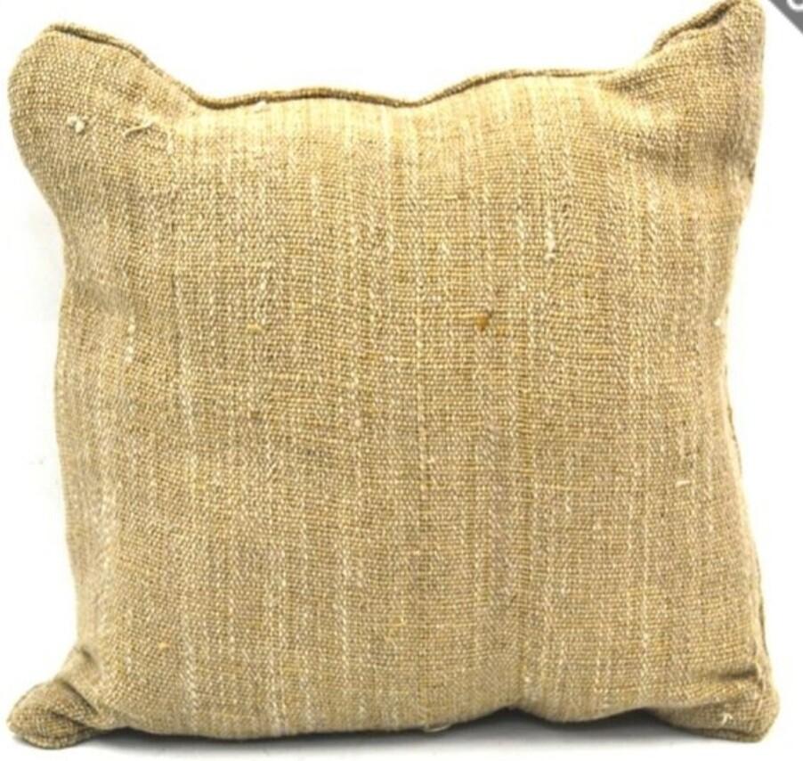 Brown Jute Cushion