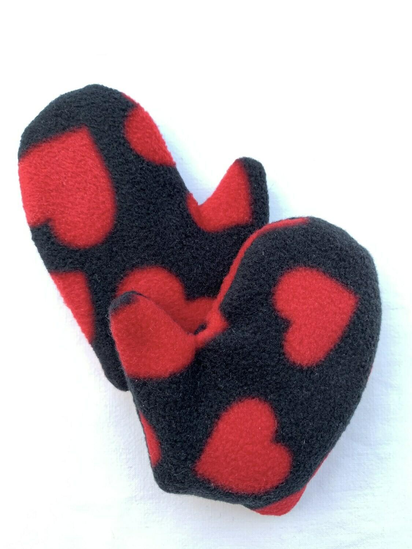 Mitten Hand Warmers (pair) - Love Hearts