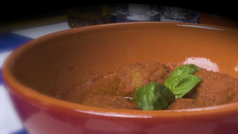 Polpetta di Fassona con conserva di pomodorini del Piennolo