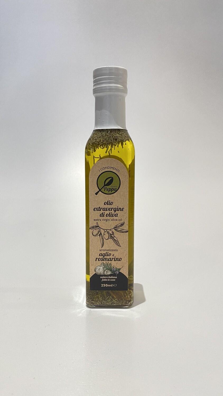 Olio EVO Aromatizzato all'Aglio e Rosmarino