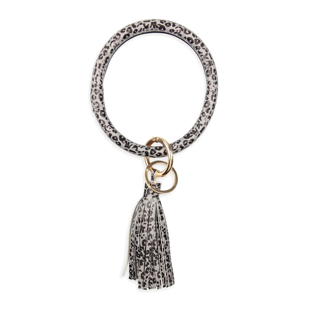 Leopard Tassel Key Ring Bracelet